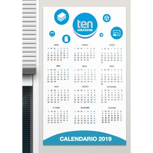 Calendario Grande.Calendario Mural Grande Ten Soluciones